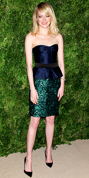 Emma Stone wearing Burberry